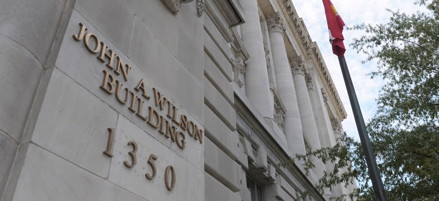 The John A. Wilson Building, the District of Columbia's main government building.