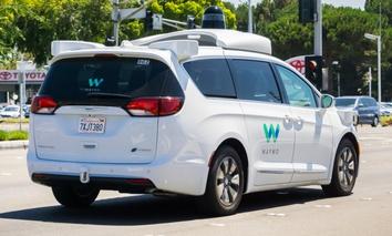 A Waymo car in Mountain View, California.