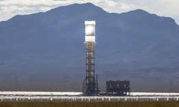 The Ivanpah solar thermal power plant in California's Mojave Desert.