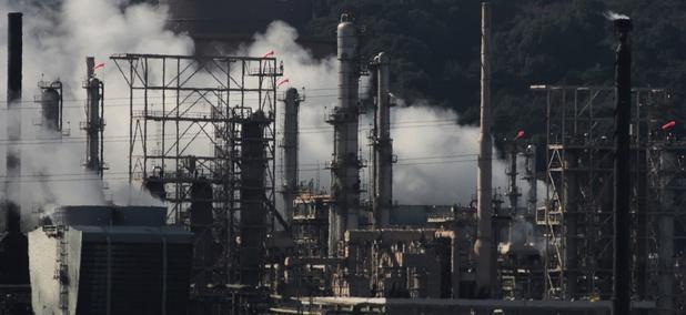 A Chevron refinery in Richmond, California