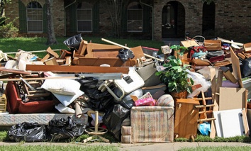 Cleaning up after flooding in Baton Rouge, Louisiana last year..
