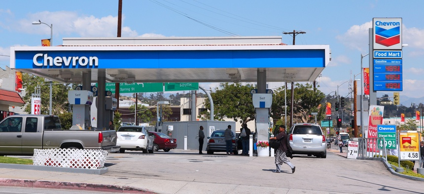 A gas station in Los Angeles