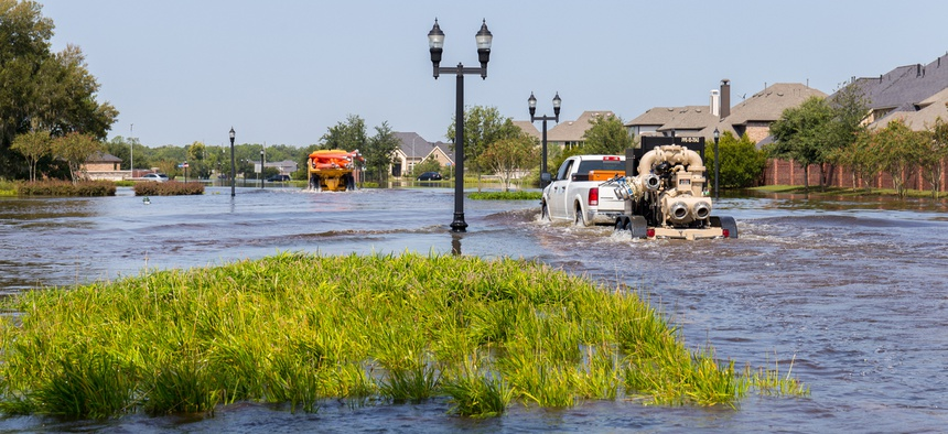 Flooding in Missouri City, Texas following Hurricane Harvey