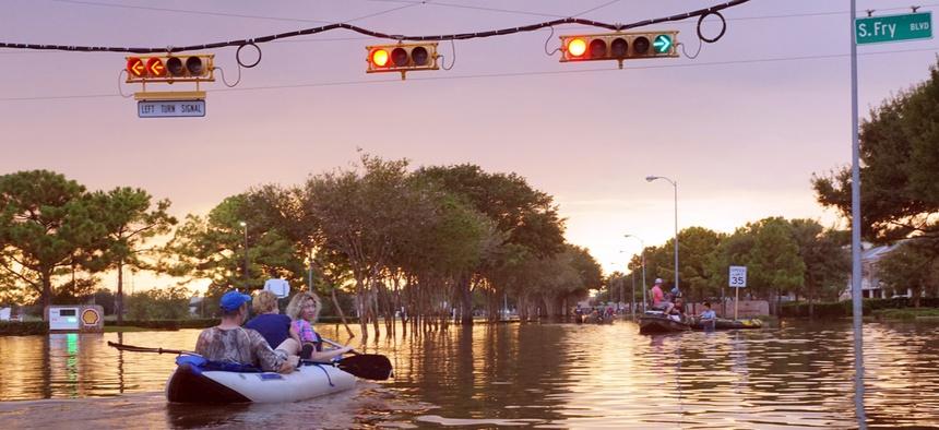Flooding in Houston, Texas following Hurricane Havrey