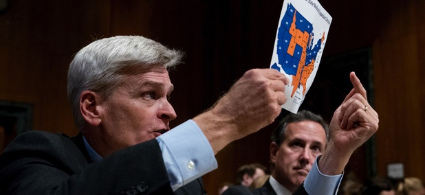 Sen. Bill Cassidy testifies during a Senate Finance Committee hearing to consider the Graham-Cassidy healthcare proposal.