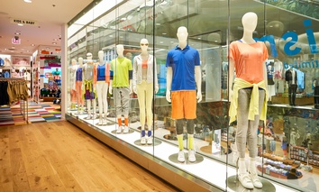The interior of a Uniqlo store in Chicago during March of 2016.
