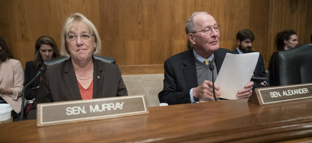 Sen. Patty Murray, the ranking member, and Sen. Lamar Alexander, chairman of the Senate Health, Education, Labor, and Pensions Committee