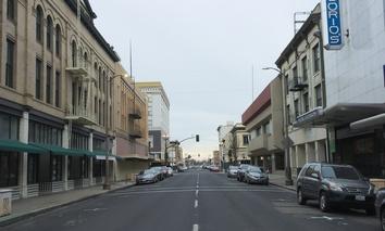 Main Street in downtown Stockton, California