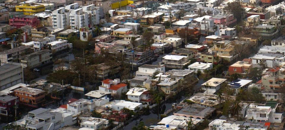 San Juan, Puerto Rico a week after Hurricane Maria.