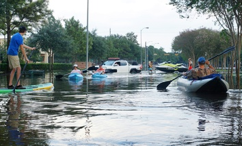 Flooding in Houston following Hurricane Harvey.