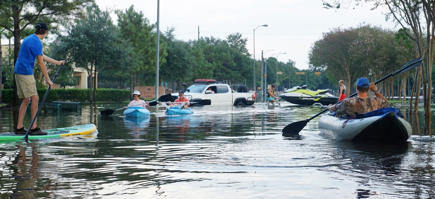 Flooding in Houston following Hurricane Harvey.