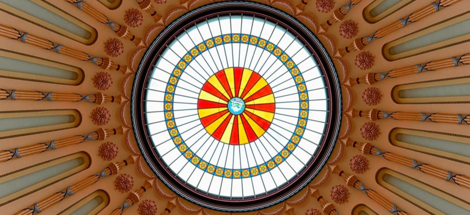 The rotunda inside the Ohio Statehouse in Columbus.