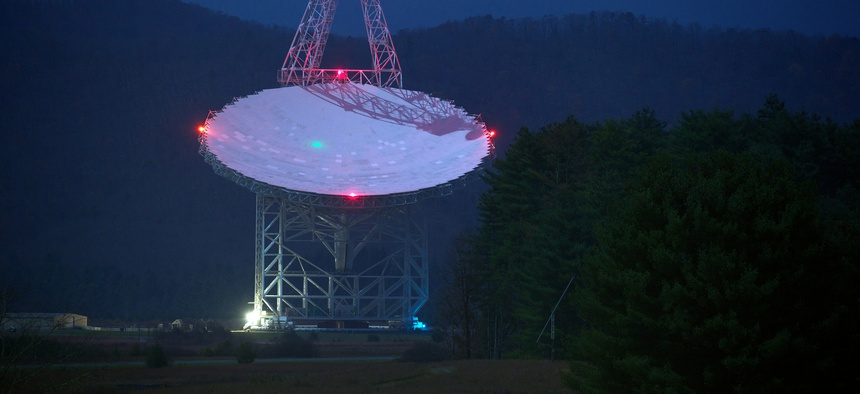 Robert C. Byrd Green Bank Telescope at the National Radio Astronomy Observatory in Green Bank, West Virginia