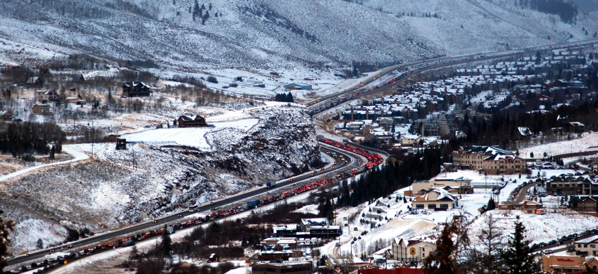 Interstate 70 is the Colorado ski industry's lifeline, but it's often congested.