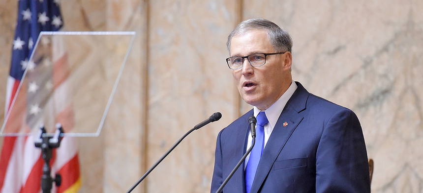 Washington State Gov. Jay Inslee says that any company that feels unwelcome in Indiana is welcome in his state.