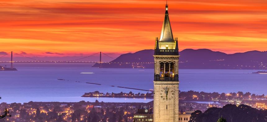 San Francisco Bay as seen from the University of California at Berkeley.