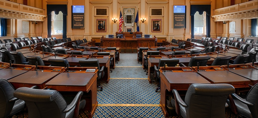 The Virginia House of Delegates chamber.