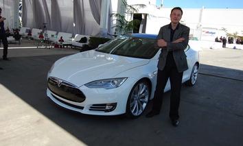 Elon Musk at his Tesla Factory in Fremont, California