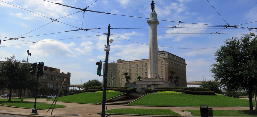 Lee Circle in New Orleans, Florida