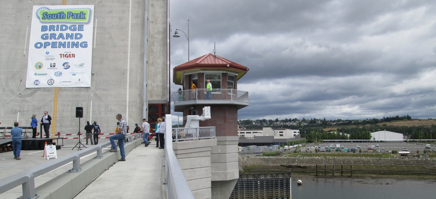 The new South Park Bridge in King County, Washington.