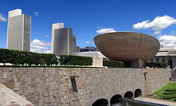 Empire State Plaza in New York, New York.