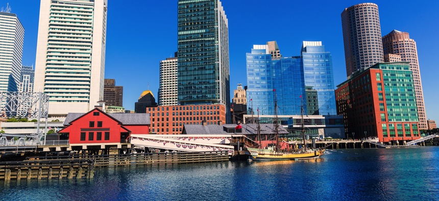 Looking at Fan Pier in Boston, which is part of the Innovation District.