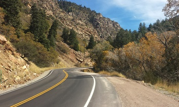 Utah State Route 190 snakes its way through Big Cottonwood Canyon.