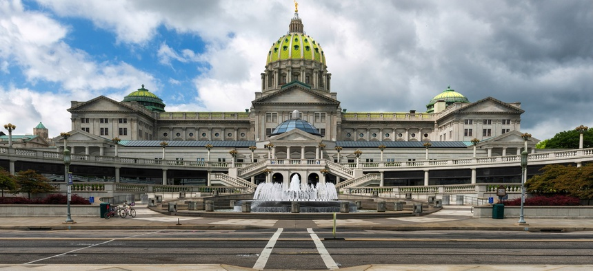 The Pennsylvania State Capitol in Harrisburg.
