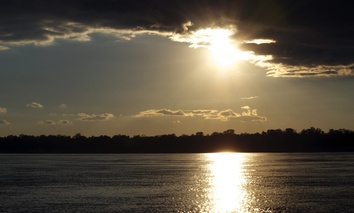 Mississippi River near Memphis, Tennessee