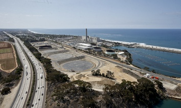 Construction of the desalination plant in Carlsbad, California. Climate change and drought have stretched water supplies worldwide, and most state water officials expect shortages over the next 10 years.
