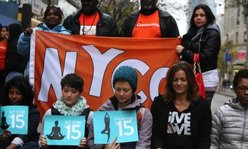 Fight for Fifteen's National Day of Action on November 10 in New York City.