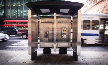 A New York City payphone