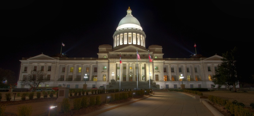 At the Arkansas State Capitol, policymakers can't rely on rainy day funds because Arkansas doesn't have a rainy day fund.