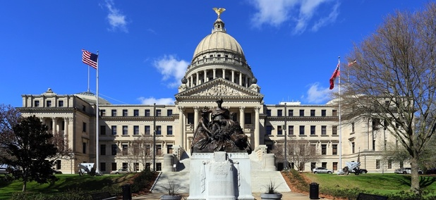 The Mississippi state capitol building