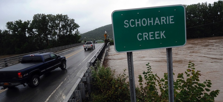 Schoharie Creek in September 2011 following Hurricane Irene.