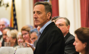 Vermont Gov. Peter Shumlin delivers his final State of the State Address on Thursday, Jan. 7, 2016, at the Statehouse in Montpelier, Vt.