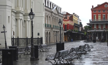 New Orleans' French Quarter post-Hurricane Gustav in 2008.