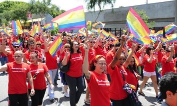 Los Angeles' LGBT Pride Parade in 2015 in Hollywood.