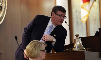 N.C. House Speaker Tim Moore, R-Cleveland, addresses members gathered for a hastily called special session Wednesday in Raleigh.