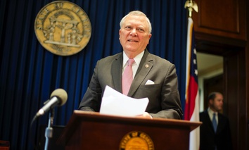 "Georgia Gov. Nathan Deal announcing his decision to veto the ""religious liberty"" bill Monday in Atlanta."
