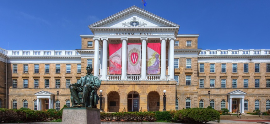 The University of Wisconsin's Bascom Hall. The attack on tenure at the University is one of the ways higher education is being threatened.
