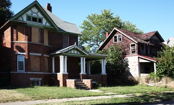 Vacant homes in Detroit, Michigan