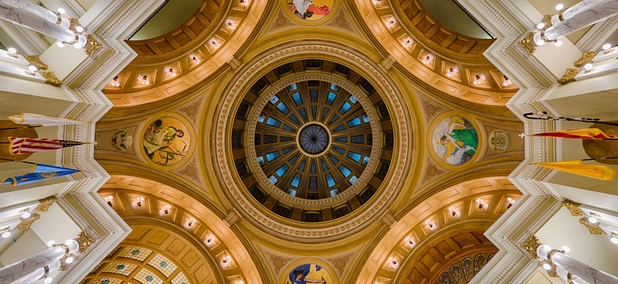 The South Dakota State Capitol's Rotunda.