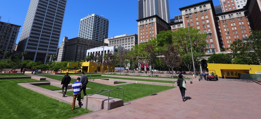 Pershing Square, Los Angeles.