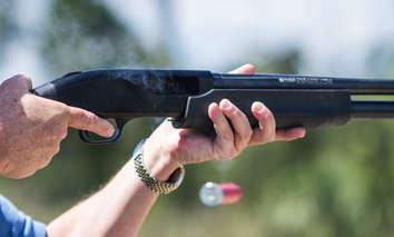 "Jonathan Mossberg, whose iGun Technology Corp. is working to develop a ""smart gun,"" demonstrates the firearm, in Daytona Beach, Fla."