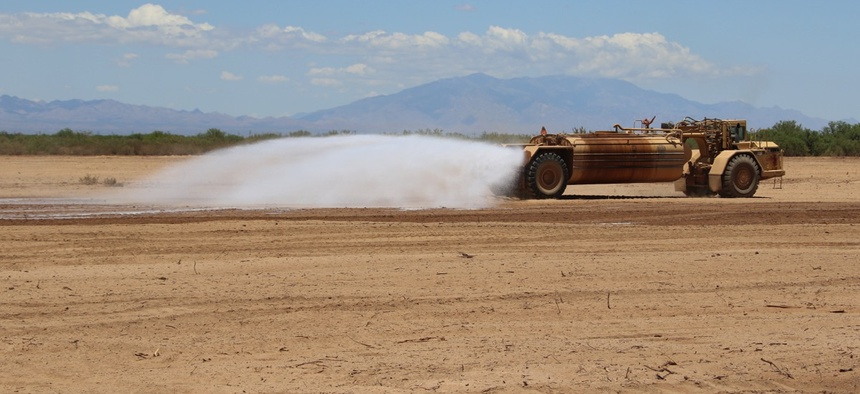 Gorilla-Snot sprayed for dust control in Arizona.