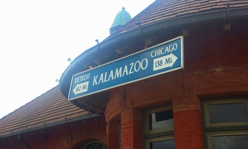 Kalamazoo's Amtrak station is part of the Southwest Michigan city's intermodal transportation center.