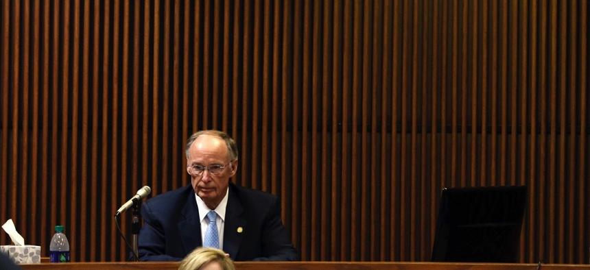 Alabama Gov. Robert Bentley on the stand.