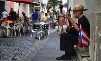 A street scene in San Juan, Puerto Rico.