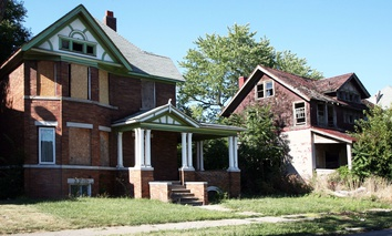 Vacant homes in Detroit